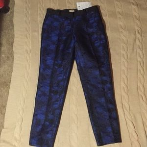 Pants - Brocade blue trousers
